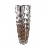 Ваза напольная серебро 45х45х120 см