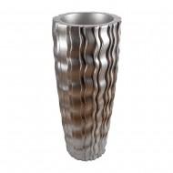 Ваза напольная серебро 44х44х101 см