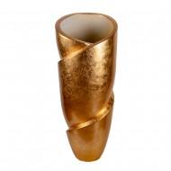 Ваза напольная золото 44х44х110 см