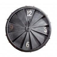 Часы настенные металлические черные  80 см