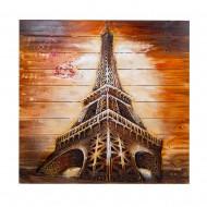 Панно настенное на дереве Эйфелева башня 92х92 см
