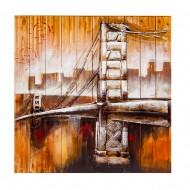 Панно настенное на дереве Мост 92х92 см