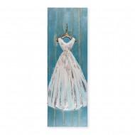 Панно настенное на дереве Платье 50х150 см