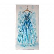 Панно настенное на дереве Платье 60х120 см