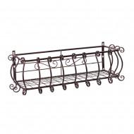 Короб балконный подвесной металлический 25х29х80 см