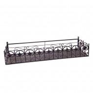 Короб балконный подвесной металлический  23х19х120 см