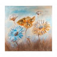 Панно настенное Цветы 80х80 см