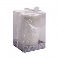 Свеча белая в коробке7х10 см