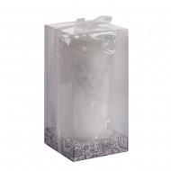 Свеча белая в коробке 7х13 см