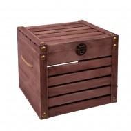 Ящик декоративный реечный коричневый 45х35х41 см