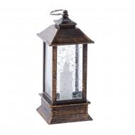 Новогоднее украшение Фонарь со свечой 12,5 см (свет)