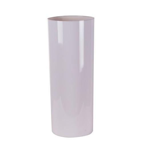 Ваза-цилиндр белая 16х16х40 см