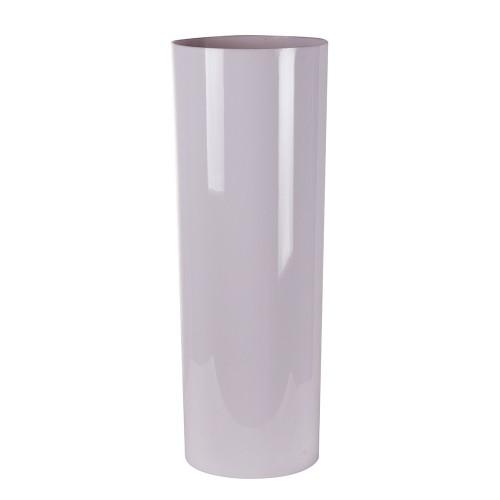 Ваза-цилиндр белая 18х18х50 см