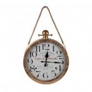 Часы настенные металлические с верёвкой 41х8х63 см