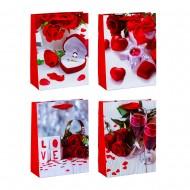 Пакет подарочный Love 31х40х12 см