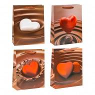 Пакет подарочный Сердце в шоколаде 26х32х10 см