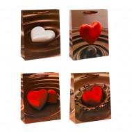 Пакет подарочный Сердце в шоколаде  31х40х12 см
