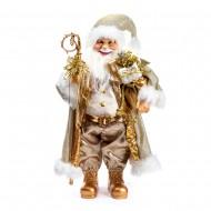 Новогоднее интерьерное украшение дед мороз 30 см