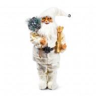Новогоднее интерьерное украшение дед мороз с лыжами 30 см