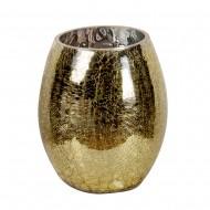 Ваза для цветов стекло золотистая  23х14 см