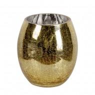 Ваза для цветов стекло золотистая  18х12 см