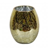 Ваза для цветов стекло золотистая 15х9 см