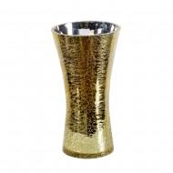 Ваза для цветов стекло золотистая 30х16 см
