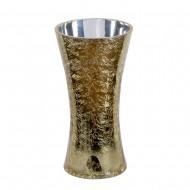 Ваза для цветов стекло золотистая 25х13 см