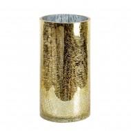 Ваза для цветов стекло золотистая 30х15 см