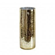 Ваза для цветов стекло золотистая 29,5х12 см