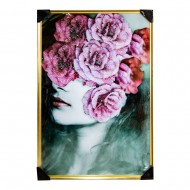Панно настенное Модель с розами 83х125 см