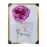 Панно настенное Модель с розой 83х125 см