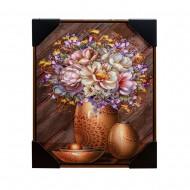 Панно настенное  Цветы в вазе 42х52 см