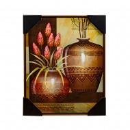 Панно настенное Натюрморт с вазами 42х52 см