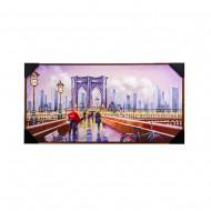 Панно настенное Бруклинский мост 52х102 см