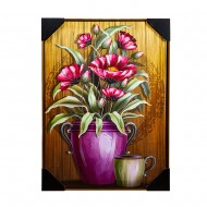 Панно настенное Цветы в вазе 52х72 см