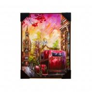 Панно настенное Улица в стиле ретро 52х72 см