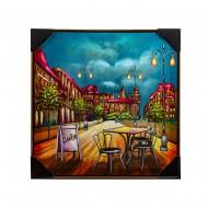 Панно настенное Уличное кафе 62х62 см