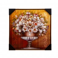 Панно настенное Цветы в вазе 62х62 см
