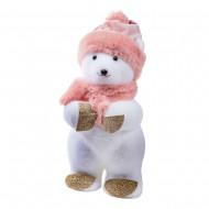 Новогоднее украшение Мишка в шапке 30 см