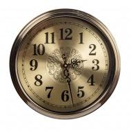Часы настенные металлические (цвет металлик бронза) 40х40 см