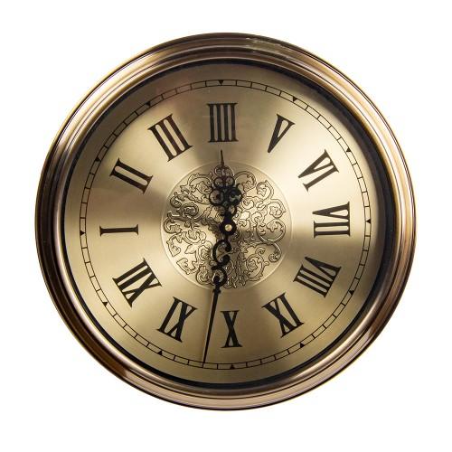 Часы настенные металлические (цвет металлик бронза ) 40х40 см