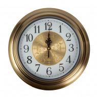 Часы настенные металлические (цвет металлик бронза) 32х32 см