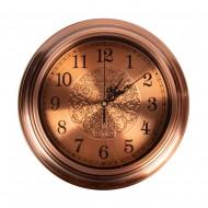 Часы настенные металлические (цвет бронза) 32х32 см