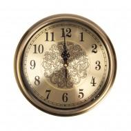 Часы настенные металлические (цвет металлик бронза) 28х28 см