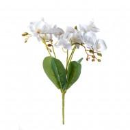 Цветок искусственный Орхидея белая 40 см
