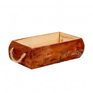 Кашпо деревянное с ручками 29х16х9 см