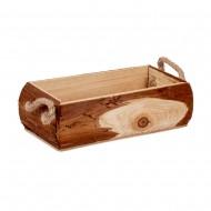 Кашпо деревянное с ручками 22х10х7 см
