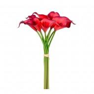 Букет искусственных  Каллов (пурпурно-красного цвета ) 9 шт 35 см