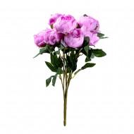 Букет искусственных Пионов (розового цвета) 9 шт 47 см
